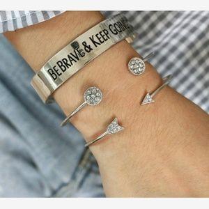 New! Women's Be Brave 3pc Bracelet Set